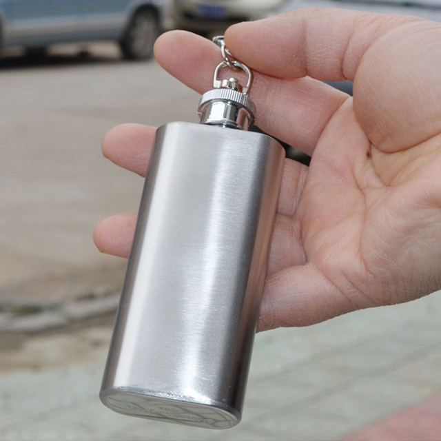 EZLIFE Mini Portable Whiskey Hip Flask Stainless Steel Whisky Hip Flask With Key Ring Alcohol Whisky Hip Flask Wine Tools MS361