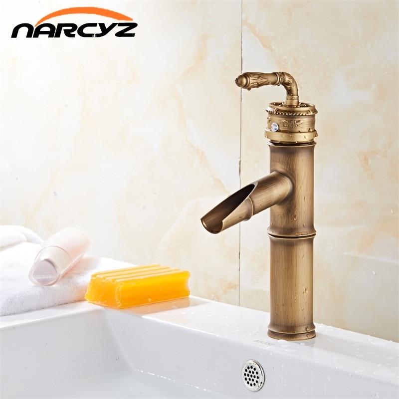 Livraison gratuite robinet de salle de bain toilette laiton Antique finition robinets de lavabo simple main robinet XT936Livraison gratuite robinet de salle de bain toilette laiton Antique finition robinets de lavabo simple main robinet XT936