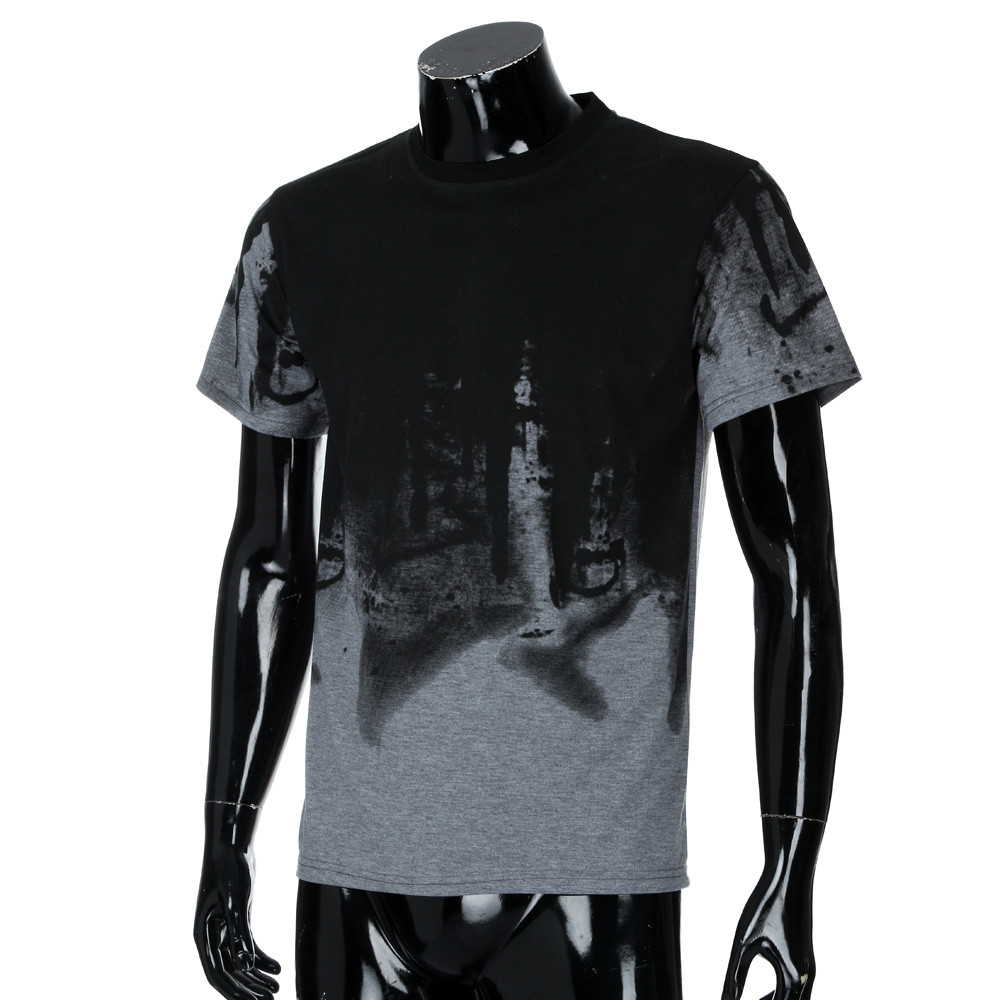 t shirt tshirt Men Tee Slim Fit Hooded Short Sleeve Muscle  Casual Tops Blouse t-shirts black breast blouse top big size 3D F80