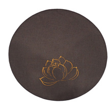 Linen Embroidery Lotus Round Meditation Cushion Thickening Circle Floor Cushions Japanese Style Futons Seat Tatami