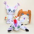 27-30cm Digimon Adventure Digimon Tailmon Cat Gomamon Patamon Plush Toys Soft Stuffed Dolls
