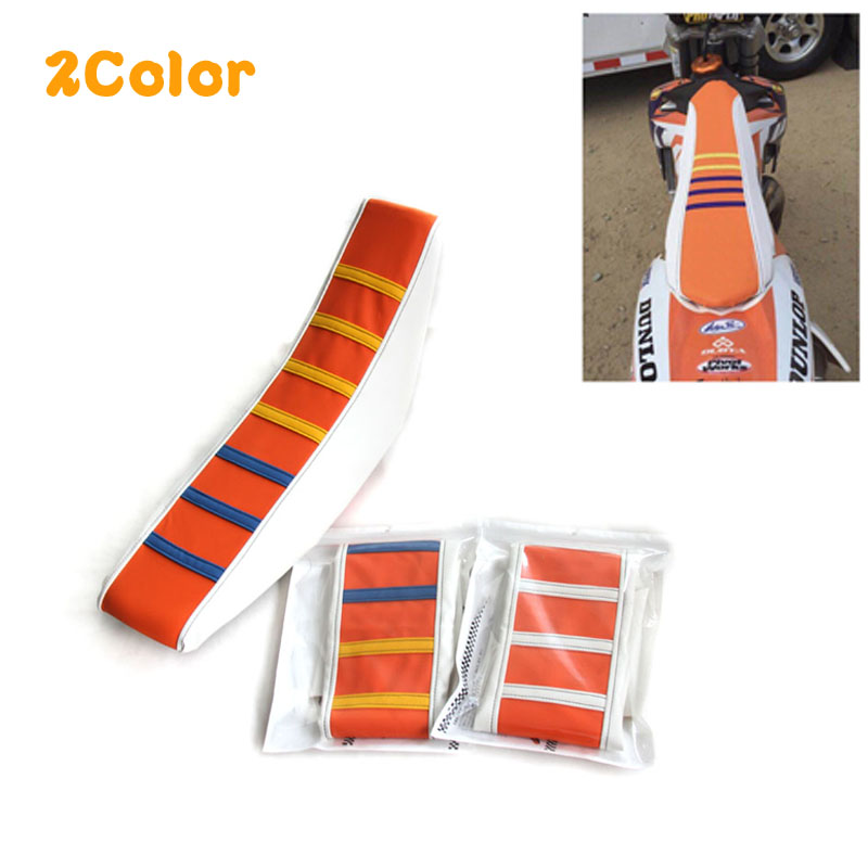 New 2 Color Universal Leather Gripper Soft Seat Cover For WR YZF CRF KTM SUZKI Motocross Motorcycle Off Road