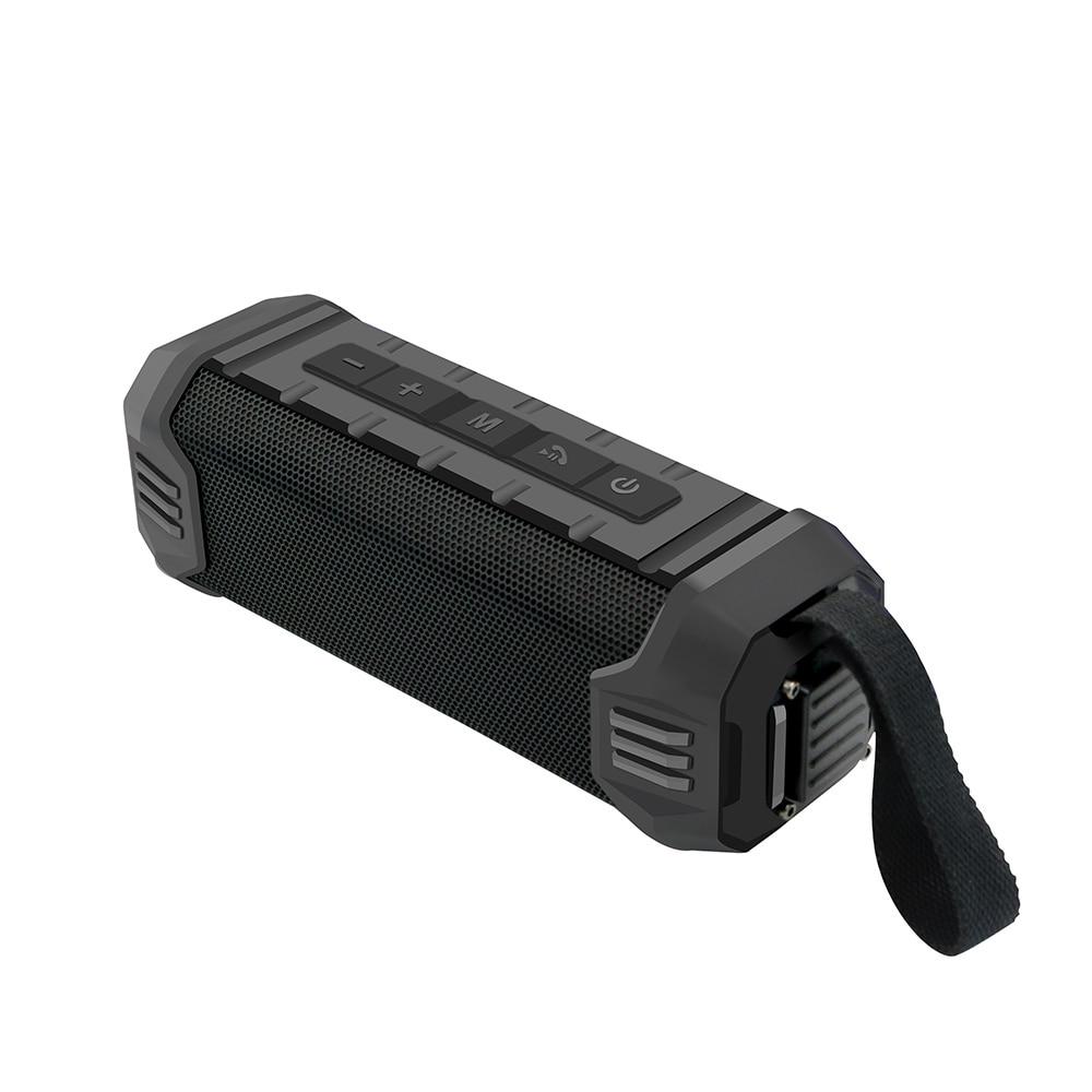 Newrixing 16W Waterproof Wireless Bluetooth Speaker Power Bank Portable Soundbar Outdoor Column Sound Box with AUX