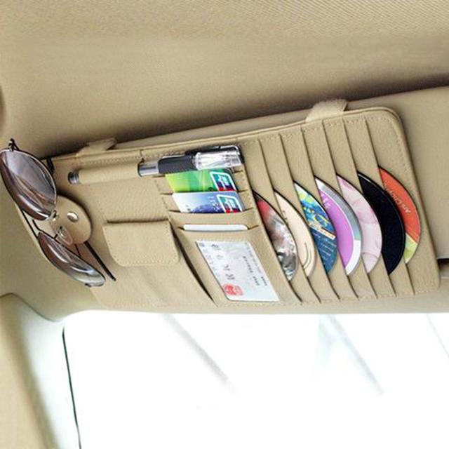 Envío Gratuito de alta calidad Parasol Bolsa de Almacenamiento de Coches Notas Pouch CD Recibir Bolsa Caso Visor Tarjeta Disco DVD carpeta de Bolsillo