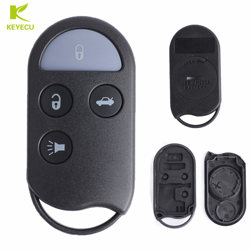 Grey Shell For Keyless Entry Remote Fob For Nissan Infiniti 4 Btns Replace Case