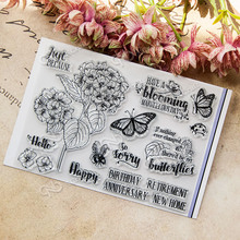 Spring Transparent Clear Silicone Stamp/Seal for DIY scrapbooking/photo album Decorative clear stamp