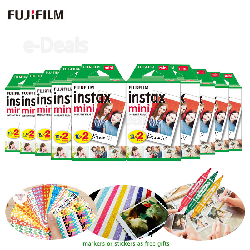 Белая пленка Fujifilm Instax Mini 9, 10-200 листов для камеры FUJI Instant Photo, Mini 9, 8, 7s, 25, 50s, 70, 90, Share Printer, SP-1