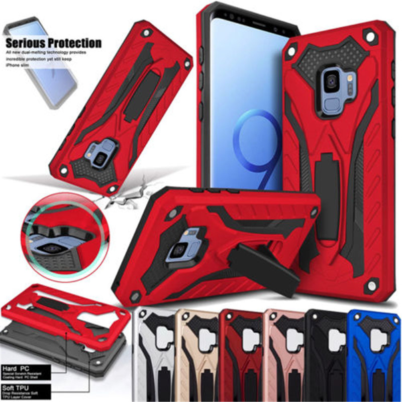 Luxury Armor Case For Samsung Galaxy S8 S9 Plus S7 EDGE S10E S10 Note 5 8 9 10 Pro A6 A8 A7 J4 J6 2018 TPU+PC Hard Cover A30 A50