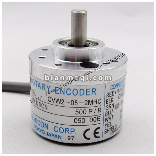 NE OVW2-05-2MHC bajo el control del codificador 38mm diámetro del eje 6mm diámetro exterior de 500 líneas
