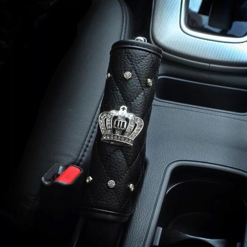 Unisex PU Car Seat Belt Shoulder Pads Cover Diamond Hand Brake Set Seat belt Shoulder Protection Padding Strap Auto Accessories in Seat Belts Padding from Automobiles Motorcycles