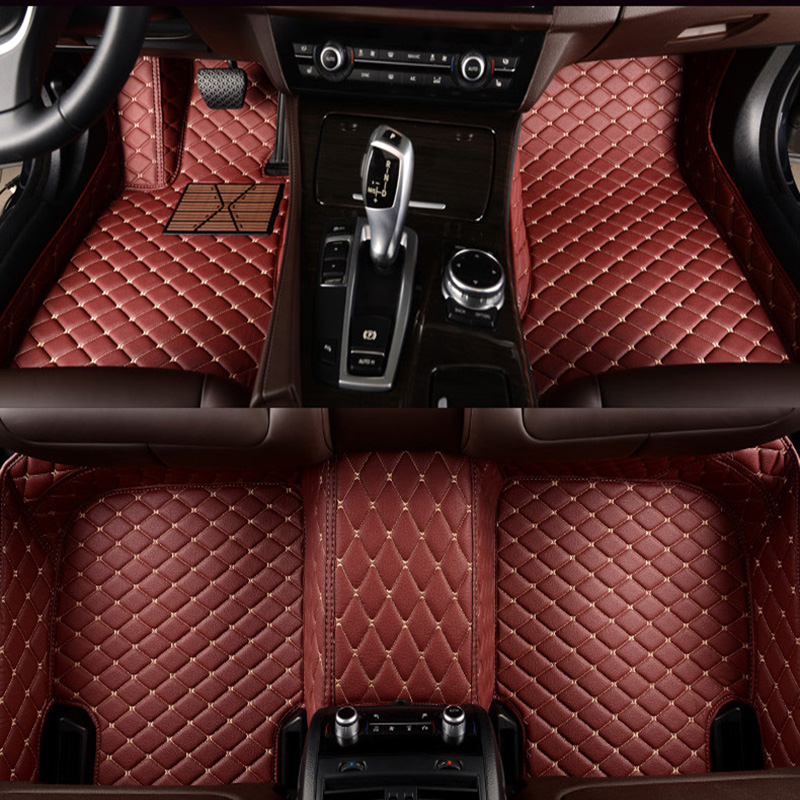 Flash mat leather car floor mats for Cadillac SLS ATSL CTS XTS SRX CT6 ATS Escalade auto accessories car styling Custom auto mat
