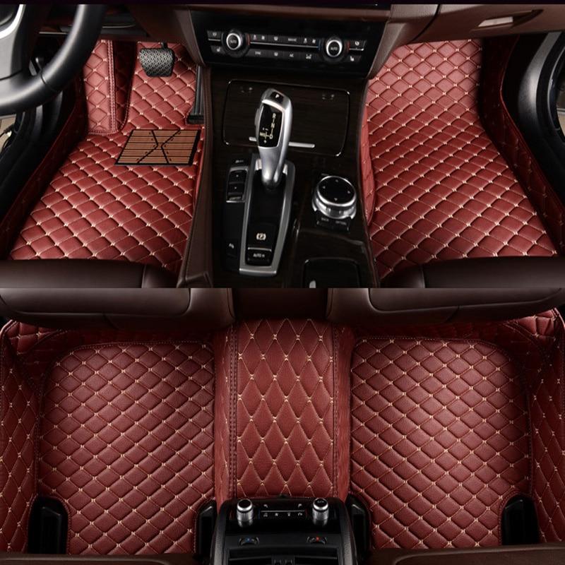 Tapis Flash en cuir tapis de sol de voiture pour Cadillac SLS ATSL CTS XTS SRX CT6 ATS Escalade auto accessoires voiture style tapis auto personnalisé