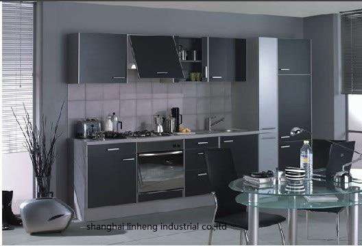 Melamine/mfc Kitchen Cabinets(LH-ME038)
