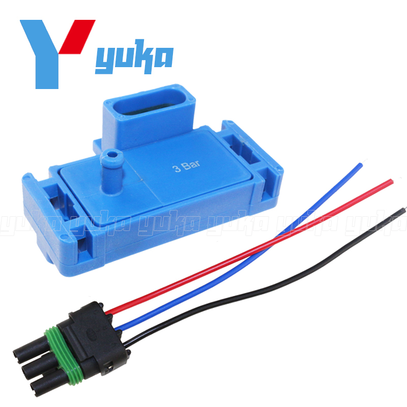 Promotion - NEW For GM STYLE 3BAR 3 BAR MAP Sensor For Electromotive Motec Megasquirt With Plug 12223861 16040749