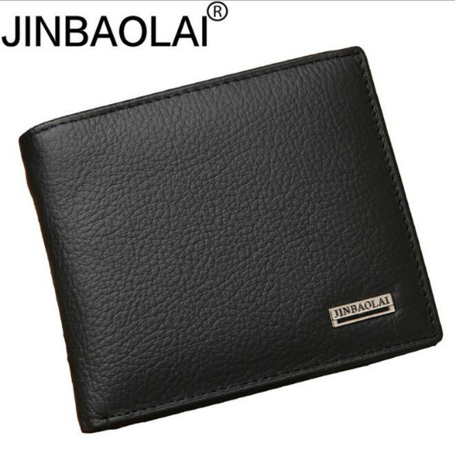 Genuine Leather Mens Wallet Premium Product Real Cowhide Wallets for Man Short Black Walet Portefeuille Homme Fashions Purses