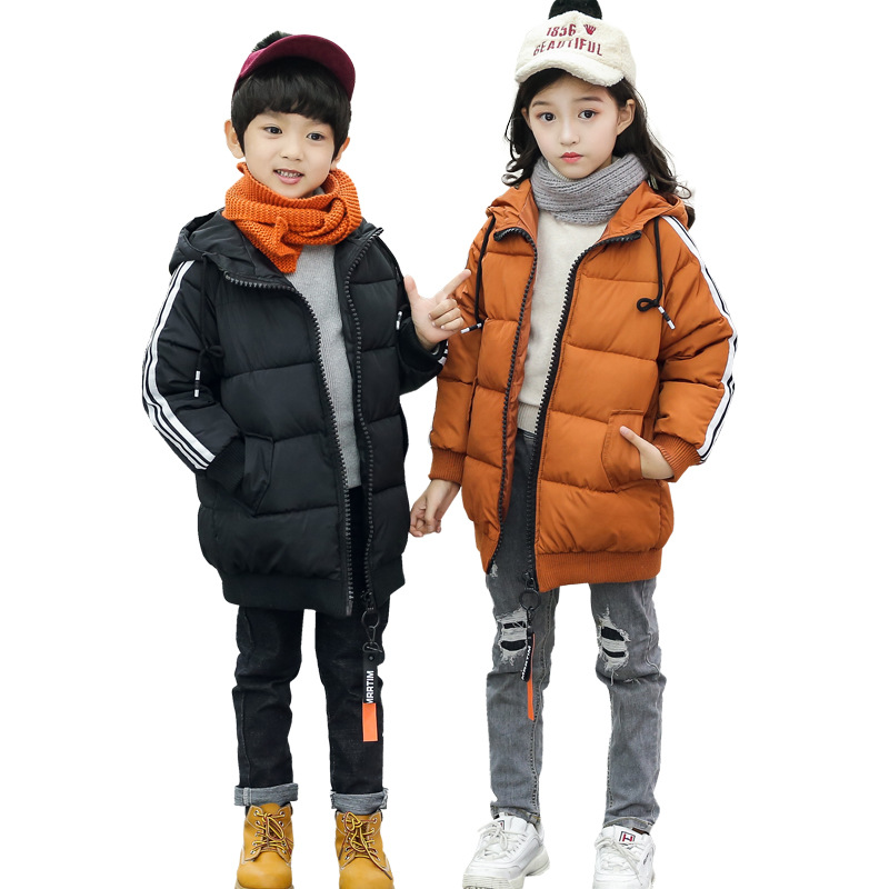 2018 Children Winter Jacket Girl Coat Kids Warm Thick Hooded Long Down Coats for Teenage Snow Wear Parka Cotton-Padded Outerwear winter girl children clothing thick jacket coats for toddler teenage kids girl clothes outfits windbreaker jacket outerwear coat