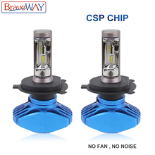 BraveWay LED Bulbs H1 H4 H7 H8 H11 HB3 HB4 9005 9006 Car Headlight 12V 72W 6500K CSP Chip H11 LED Fog Lamp for Auto Motorcycle цены онлайн