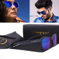 LVVKEE sunglasses brand Design new hot sport mirror color transparent glass half moon glasses for men and women driving