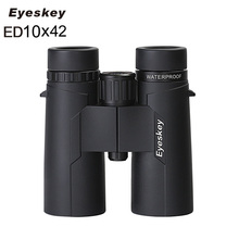 цена Eyeskey ED 10x42 Waterproof Binoculars SMC Coating Bak4 Prism Optics Golden Magnification Telescope for Camping Hunting