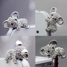 Cute Koala Horse Crown Diamond Anti Dust Plug 3.5mm Earphone Jack for iPhone 8 for Huawei Nova for Samsung Note 8