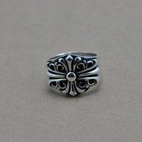Fashion 925 Sterling Silver Ring For Men Jewelry Real 100 S925 Solid Thai Silver Cross Ring