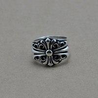 Mode 925 Sterling Silber Ring Für Männer Schmuck Echt 100% S925 Feste Thai Silber Kreuz Ring Vintage Größe 8-12,5 Großhandel