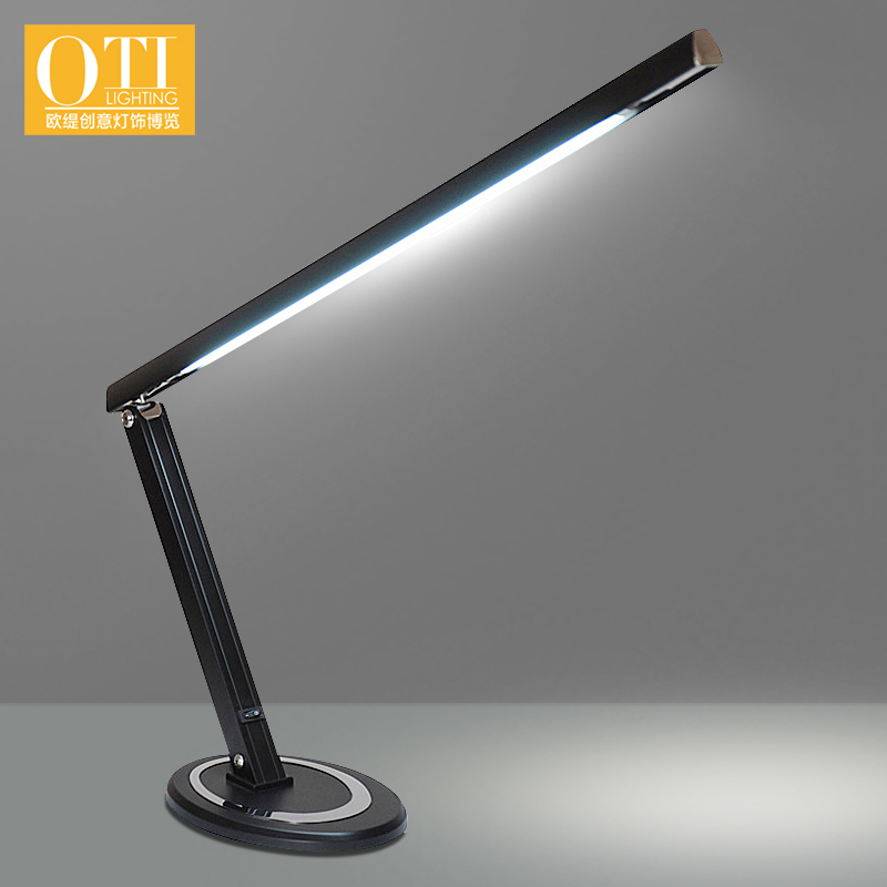 ФОТО OTI Lighting Reading Table Lamp Bedside Bedroom Aluminum Paint Energy Saving Desk Lamp Creative LED Protect Eye Table Lamp
