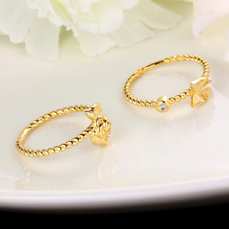 Aliexpresscom Buy two piece engagement wedding rings gold