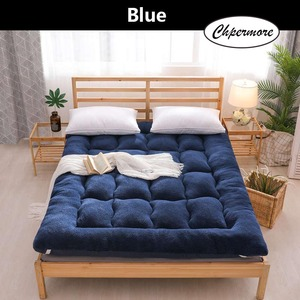 Image 1 - Chpermore Thicken Lamb cashmere Mattress Single double Student Mattresses Foldable Tatami Cotton Cover King Queen Size