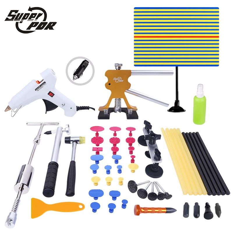 PDR tools Dent Removal Tool kit lamp board dent puller glue gun tools 44pcs use for Car dent repair Paintless