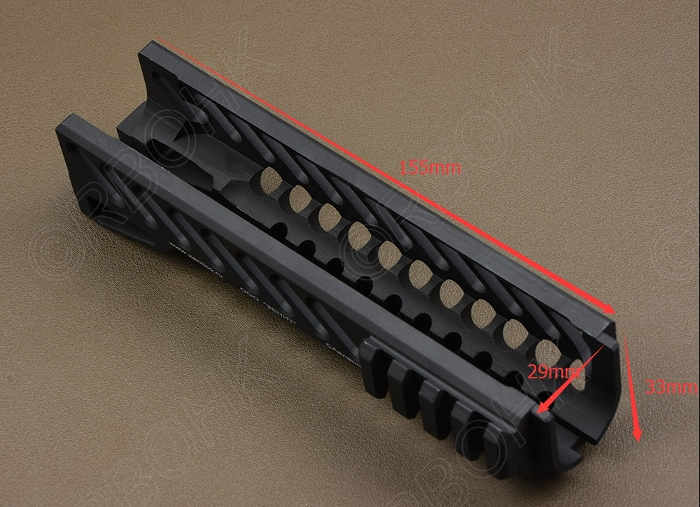 Dissipation thermique tactique multifonction AK 103 104 105 74M picatinny rail avant handguard CNC B-10 de coupe en aluminium M6761