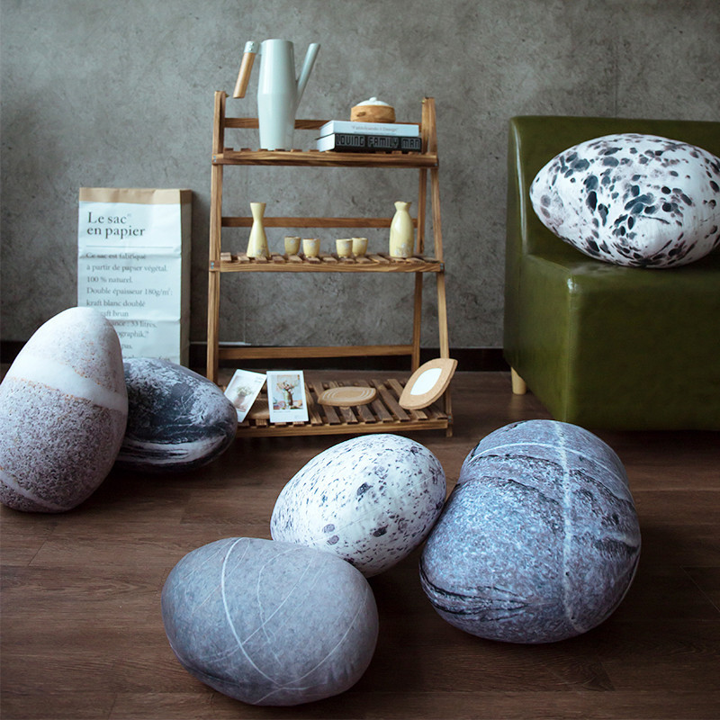 Моделирование камень Подушка галечный подушки детская подушка ленивый диван Nordic украшения дома Мягкие плюшевые, полипропиленовые, хлопковые диванных подушек