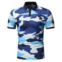 YASUGUOJI New 2019 Summer Short Sleeve Polo Shirt Men Fashion Military Camouflage Polos Para Hombre Mens Clothing