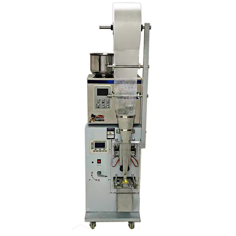 Automatic tea pouch packing machine with sealing, filling and weighing