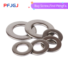 Peng Fa 100/50/20/10/5PCS M3 M4 M5 M6 M8 M10 M12 DIN9021 GB96 304/A2-70 Stainless Steel Large Size Flat Washer цены онлайн