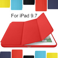 Redlai For New IPad 9 7 2017 Case Ultra Thin PU Leather Smart Cover With Hard