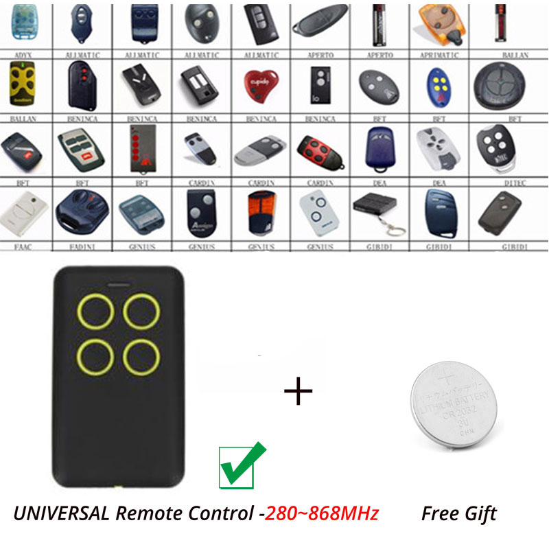 Yellow button Beninca BFT Rolling Code Remote Transmitter Clone /Duplicator 280MHz-868MHz