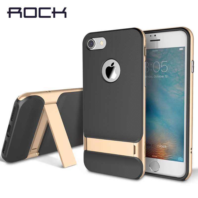 TPU+PC For iPhone 7 Case Rock Royce Luxury Kickstand Holder Cases Coque For Apple iPhone 7 / 7 Plus Mobile Phone Back Covers