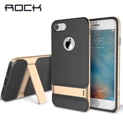 TPU + PC pour iPhone 7 Coque de support de béquille de luxe Rock Royce Coque pour Apple iPhone 7/7 Plus