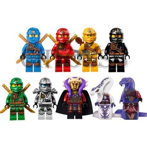 9 set Minifigure Ninja Ninjago Lloyd Skylor Zane Cole Jay