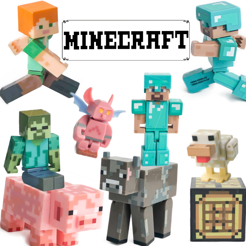 FGHGF Minecraft Action Figures Alex Steve Toy Enderman Dolls Rare Limited Edition Collectiion Kid Toy Boy Gift  Y18070202