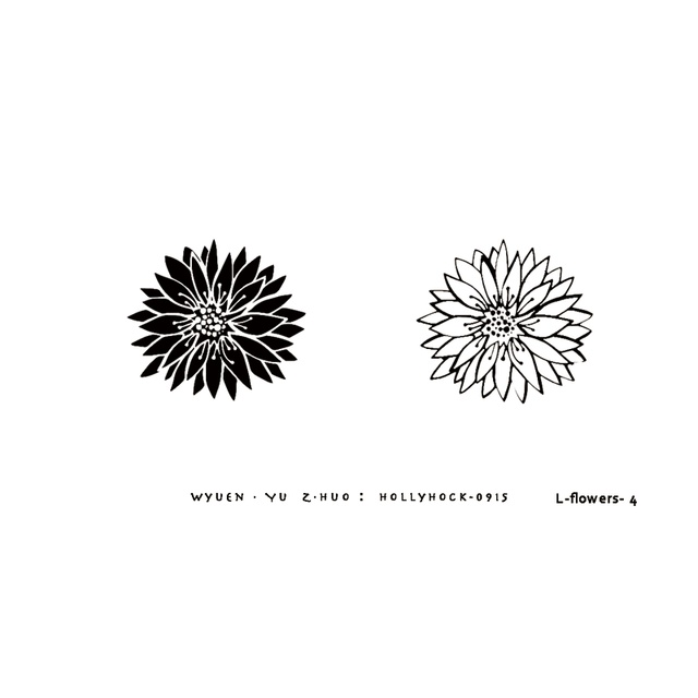 Us 0 43 30 Off Wyuen Flower Original Tattoo Stickers Hand Painted Style Daisy Fake Tattoo For Woman Man Body And Arm Art Simple Fashion In Temporary