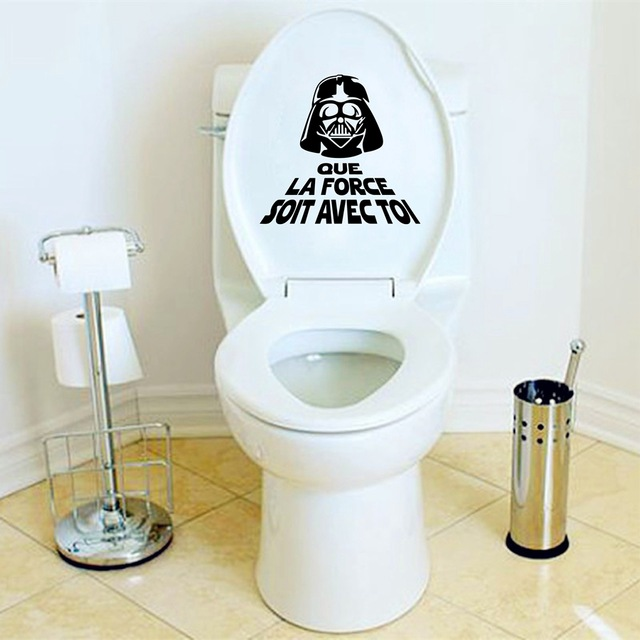 creative fran ais vinyle wall sticker star war toilettes wc autocollants fran ais toilette. Black Bedroom Furniture Sets. Home Design Ideas