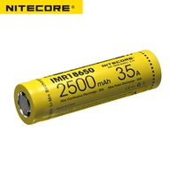 Nitecore imr18650 2500 mah 35a 3.7v bateria recarregável superior plana ideal para dispositivos vaping