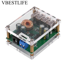 цена на DC-DC Buck Step Down Module Output Buck Inverter Converter Module 7-60V to 5V 5A 4USB Adjustable Power Supply Converter+Case