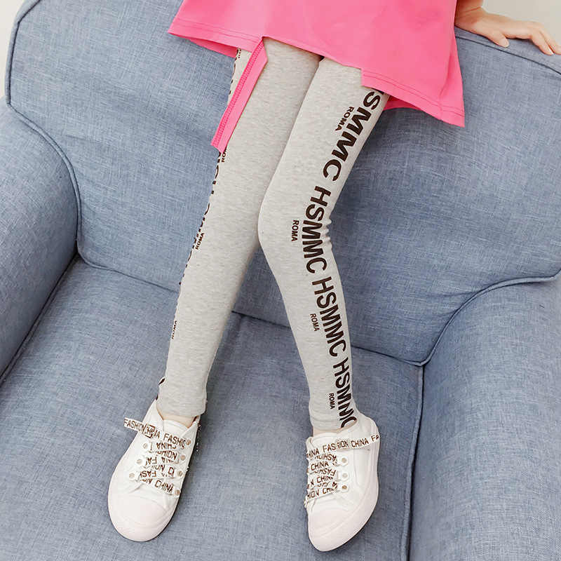 dd63e43bb ... Girls leggings Kids pants 2019 Spring Teen clothes Fashion letters  print Leggings girl Roupas infantis menina ...