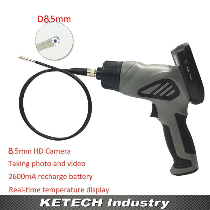 OD 8.5m Handheld NDT Videoscope Inspection Endoscope For Car Engine Sink Holes Sewer Drain Pipeline Tube Video Borescope Camera handheld ndt videoscope inspection endoscope for car engine sink holes sewer drain pipeline tube od 8 5m video borescope camera