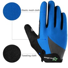 ROCKBROS Cycling Bike Bicycle Touch Screen Non-Slip Breathable Long Gloves Bike Bicycle Cycle Full Finger Bike Smartphone Gloves