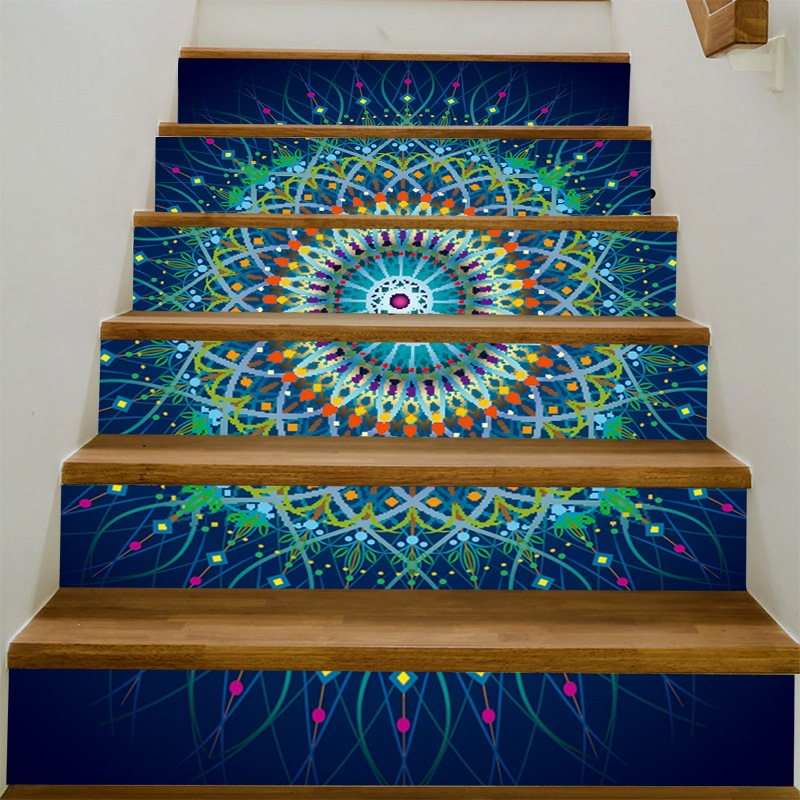 India 6pcs Pvc Wall Stickers Stairs Decal Home Decor Diy