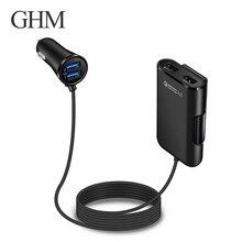 Auto Usb Lader Snel Opladen Adapter Mobiele Telefoon Oplader 2 Port Usb Snelle Auto oplader Voor Iphone Auto Usb Socket peugeot